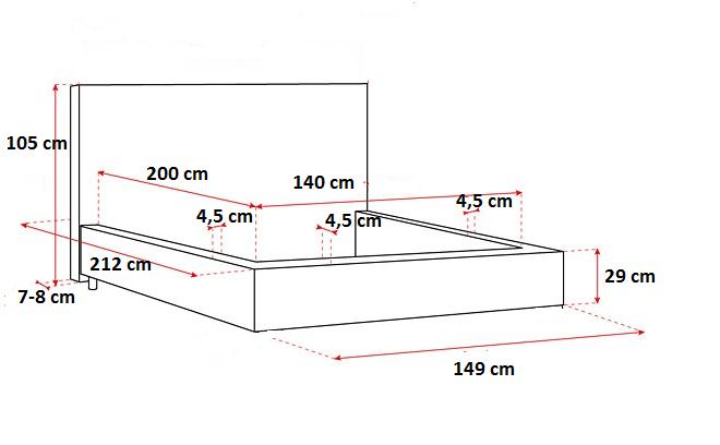 Stylowe łóżko Do Sypialni Z Pojemnikiem Na Pościel Korfu 140x200